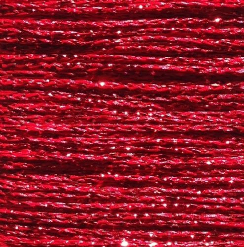 Gold Rush Metallic Glitter Thread 10m Red